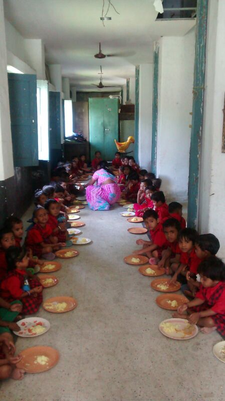 My mother-in-law sponsored single day's breakfast for poor children in this ashram.